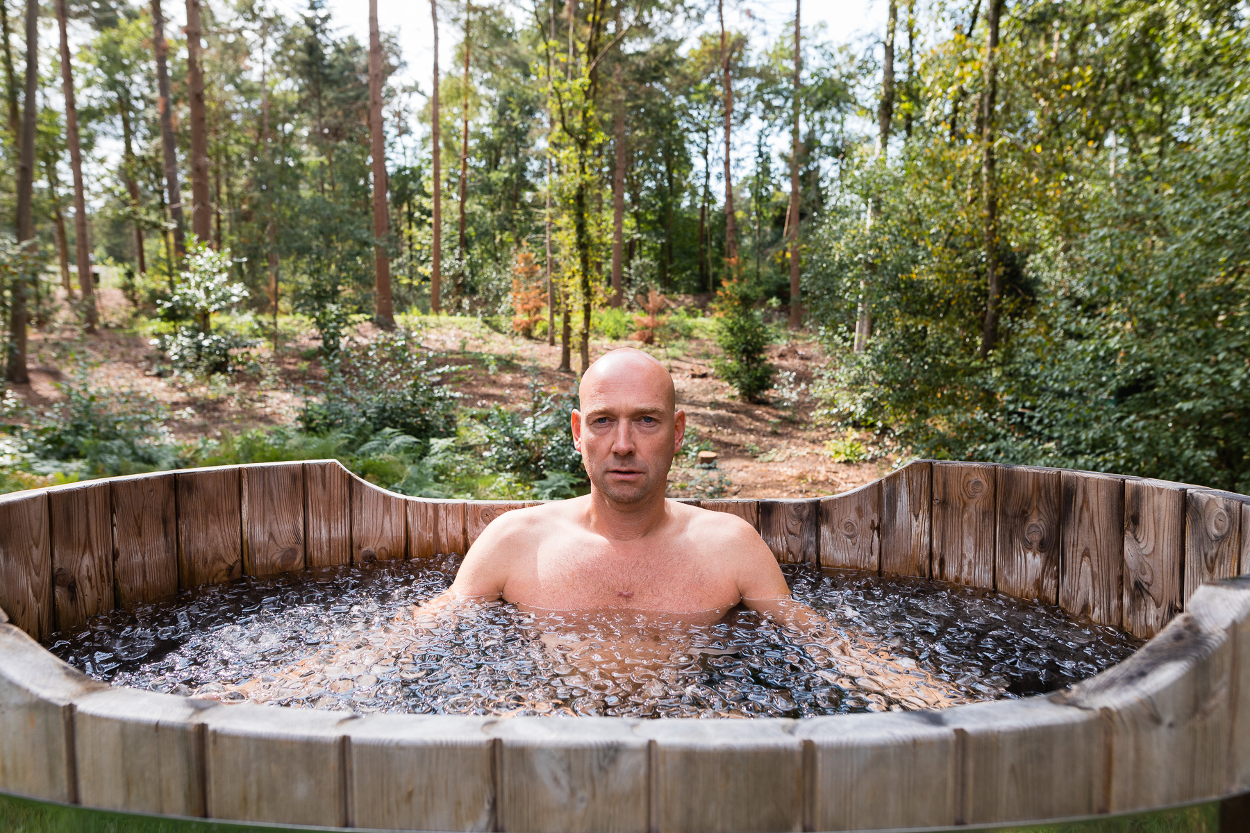 Peter van Eijndhoven in hottub